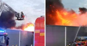 Sekiz saat boyunca yanan Ica mağazası tamamen yok oldu