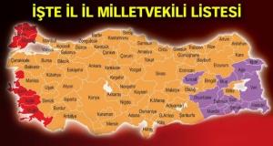 İşte il il milletvekilliği kazanan adaylar listesi