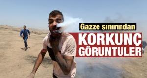 İsrail-Gazze sınırında korkunç görüntüler!