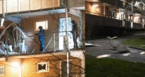 Başkent Stockholm'de iki patlama! Kapılar havaya uçtu, duvarlar yıkıldı!