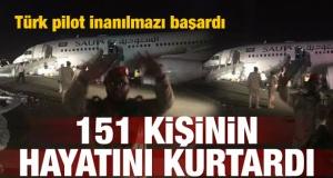 Türk pilottan mucizevi iniş