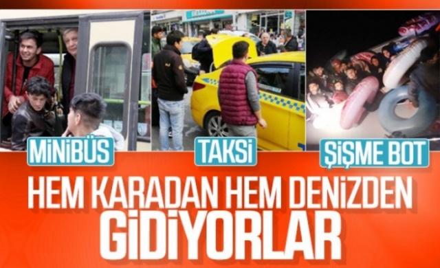 İdlib'deki hain saldırının ardından Türkiye'nin Avrupa'ya gitmek isteyenleri durdurmama kararı mültecileri sokağa döktü.