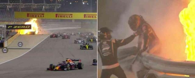 Romain Grosjean Formula 1'de kötü bir kaza geçirdi  Romain Grosjean, Bahreyn GP'nin henüz başında büyük bir kaza geçirdi.