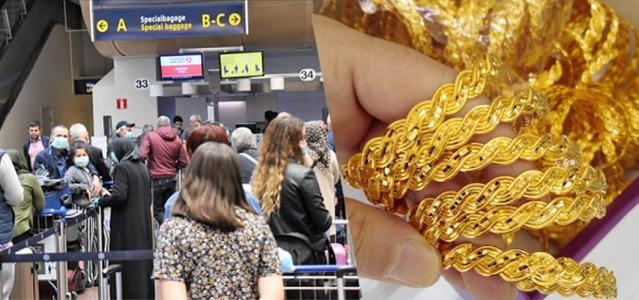 Türkiye'den Almanya'nın Hannover Havalimanı'na giden 46 yaşındaki kadın yolcunun bavulunda altın bilezik, kolye ve yüzük ele geçirildi.  Bavulun röntgen görüntülerinden şüphelenen yetkililer, eşyaların arasına gizlenmiş değeri 13 bin euro (110 bin TL) olan yeni satın alınmış altınları buldu. Altınlara el konulurken, cezai işlem başlatıldı. Almanya gümrük kanunlarına göre ülkeye girişte sadece 430 euro değerinde altına izin veriliyor.