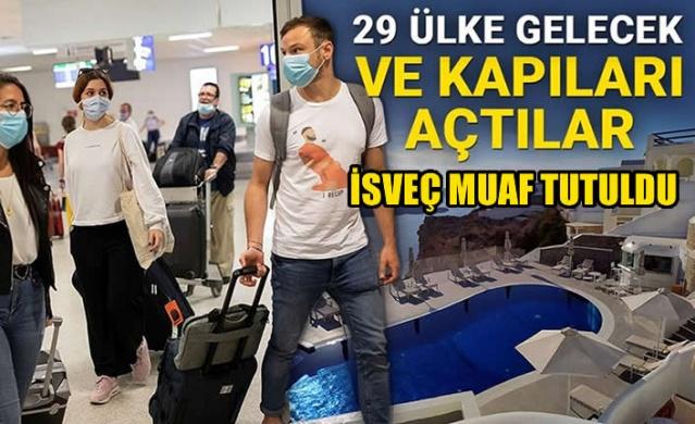 Corona virüs salgını nedeniyle AB'de başlayan seyahat yasakları bugün birçok ülkede esnetiliyor. Yunanistan da bugünden itibaren sınırlarını AB ülkelerine açtı.   Yunan yönetimi kapılarını Avrupa'daki birçok ülkeye açarken, salgını riskinin halen devam etmesi nedeniyle İsveç'e izin vermedi İsveç ile Yunan yetkililer arasında görüşmeler devam ederken, ülkede durumun normalleşmesi halinde İsveçlilere de kapıların açılacağı bekleniyor..  Türkiye ile komşu olan Yunanistan sınırı halen Türkiye'ye kapalı ancak 1 Temmuz'da bu konu iki ülke arasında görüşülecek.