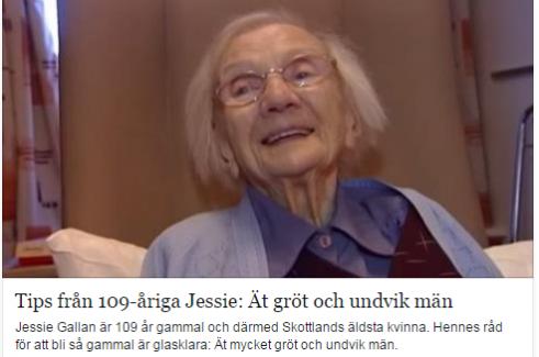 109 yaşında ki kadın: Uzun yaşamanın sırrı Erkeklerden uzak durmak...VİDEO
