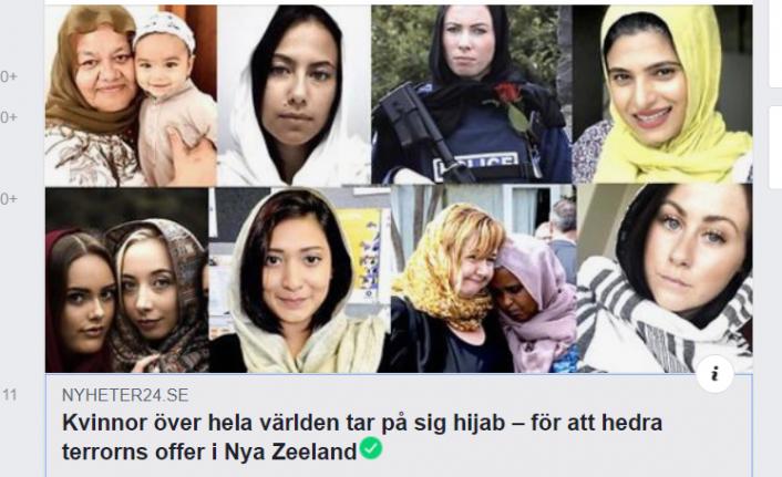 Teröre kurban giden Müslümanlar için dünyada bir çok aktivist kadın başörtüsü taktı