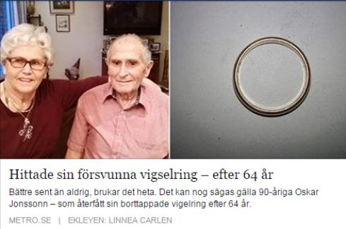 90 yaşında, 64 yıl önce kaybettiği nişan yüzüğünü buldu