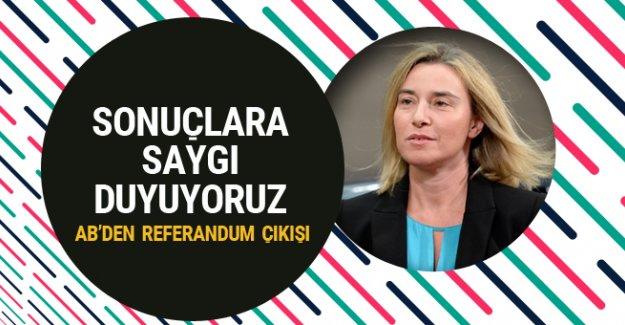 AB: 'Türkiye ile müzakereler askıya alınamaz, Türkiye'deki referandum sonuçlarına saygı duyuyoruz''