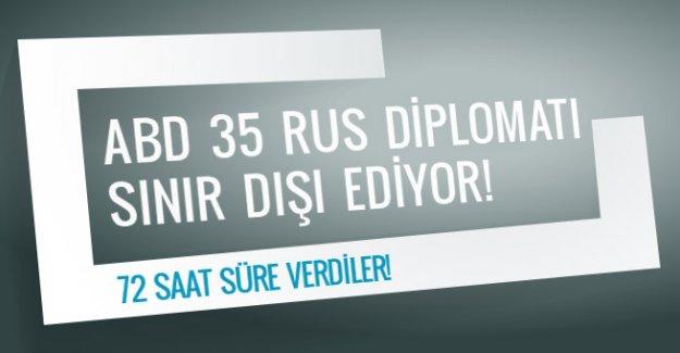 ABD 35 Rus diplomatı sınır dışı ediyor!