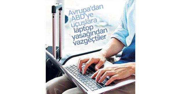 ABD Avrupa'ya laptop yasağından vazgeçti