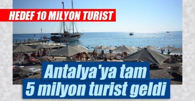 Antalya'ya 5 milyon turist geldi