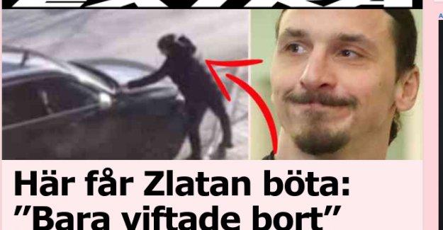 Aracını engellilerin parkına durduran İbrahimoviç'e park cezası