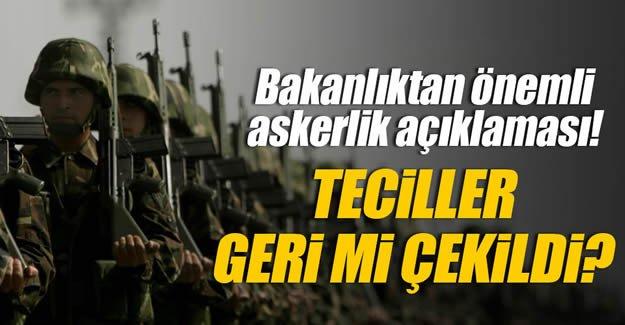 Askerlik ile ilgili flaş açıklama!