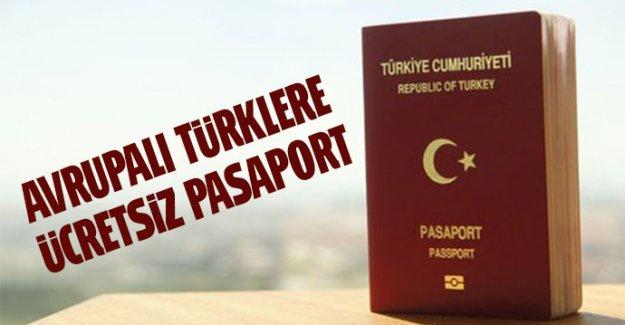 Avrupalı Türklerden pasaport harcı alınmasın