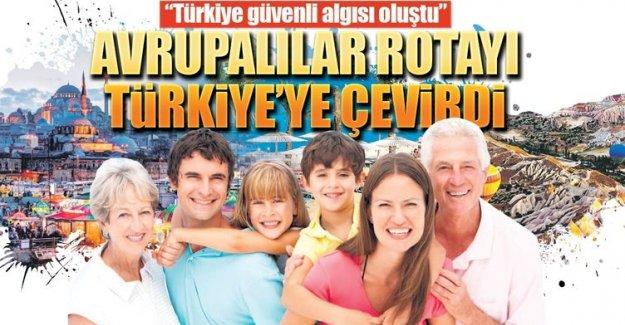 Avrupalılar rotayı Türkiye'ye çevirdi