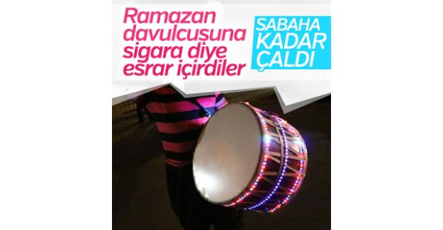Aydın'da Ramazan davulcusuna eşek şakası