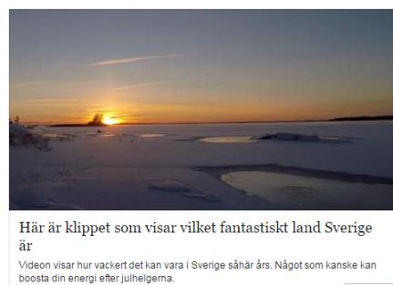 Bu Klip, İsveçîn ne kadar harika bir ülke olduğunu gösteriyor...VİDEO