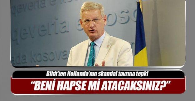 Eski İsveç Dışişleri Bakanı Bildt Hollanda'ya tepki gösterdi