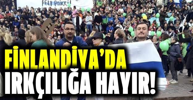 Finlandiya'da ırkçılık karşıtı gösteri