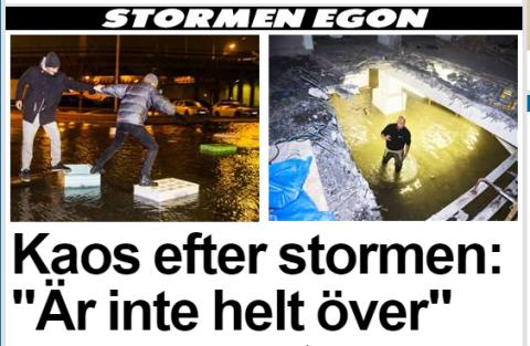 Fırtınadan sonra İsveç'te kaos görüntüleri...VİDEO