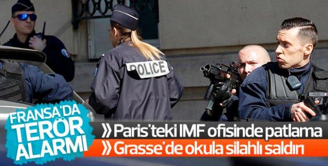 Fransa'da patlama ve silah sesleri