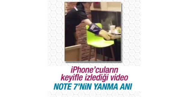 Galaxy Note 7'nin yanma anı