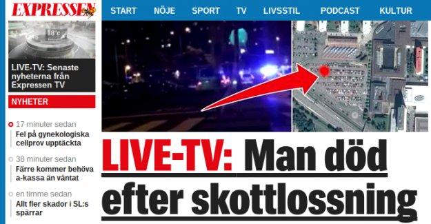 Göteborg'de bir kişi öldürüldü