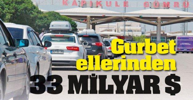 Gurbetçilerin beş senede Türkiye'ye bıraktığı para