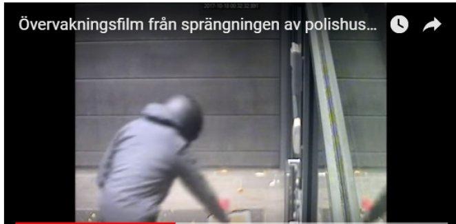 Helsingborg'da polis karakoluna bomba böyle bırakılmış
