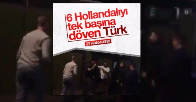 Hollanda'da 1 Türk 6 kişiyi dövdü
