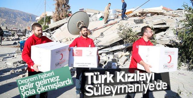 Irak'taki deprem bölgesine ilk yardım Türk Kızılayı'ndan