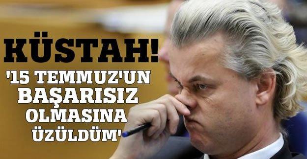 Irkçı lider Wilders'den küstah açıklama!