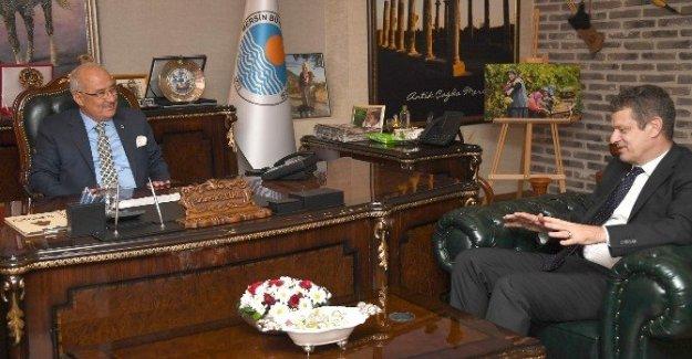 İsveç Büyükelçisi Lars Wahlund'dan Başkan Kocamaz'a ziyaret