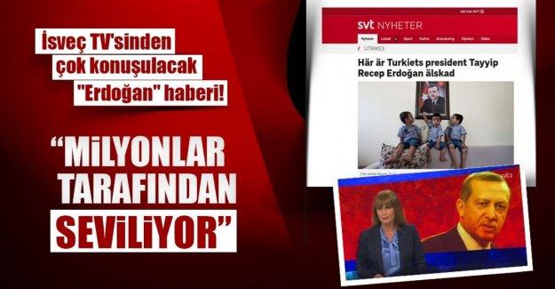 İsveç devlet televizyonunda Erdoğan haberi