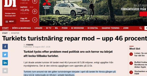 İsveç Gazetesi: ''Türkiye'ye gelen turist sayısı 13 yılın zirvesinde ''