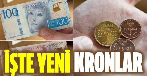 İsveç'in Yeni Paraları Bugün Piyasaya Sürüldü