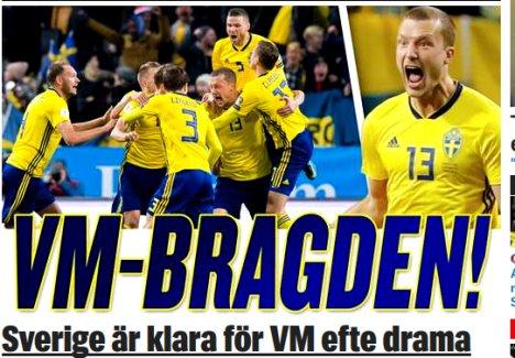 İsveç İtalya'yı Dünya Kupası'nın dışında bıraktı