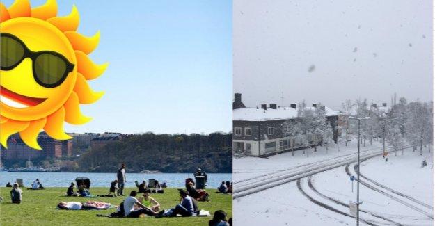 İsveç kar ile sıcağı bir arada yaşıyor
