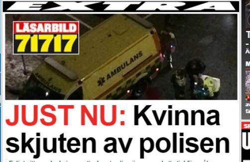 İsveç Polisi bir kadını vurdu