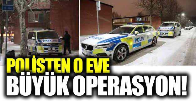İsveç polisinden silahlı şahısların kaldığı eve operasyon