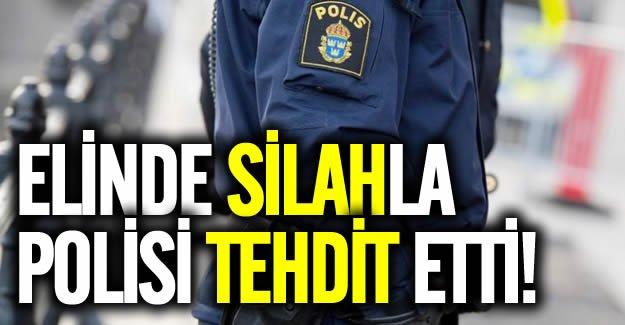 İsveç Polisine silahlı tehdit