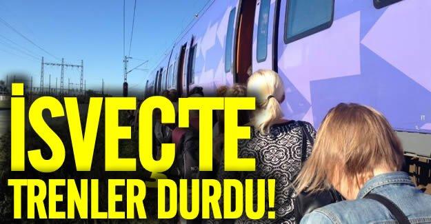 İsveç'te 50 tren seferi iptal edildi
