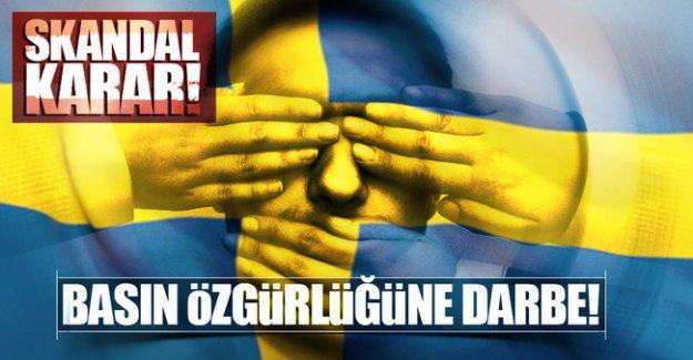 İsveç'te basın özgürlüğüne darbe!