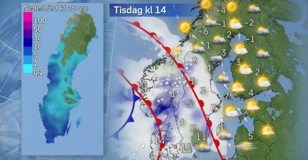 İsveç'te kar yağışı bekleniyor