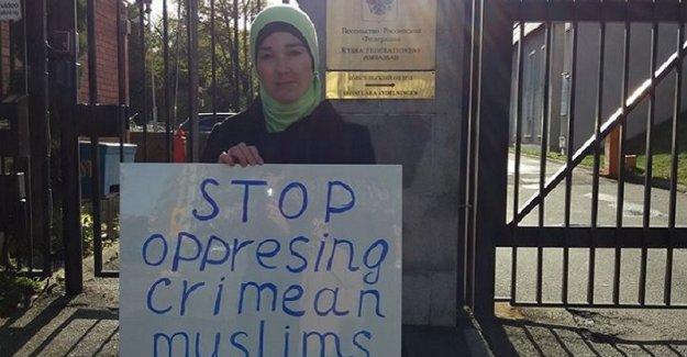 İsveç'te Kırım Tatarlarına destek eylemi