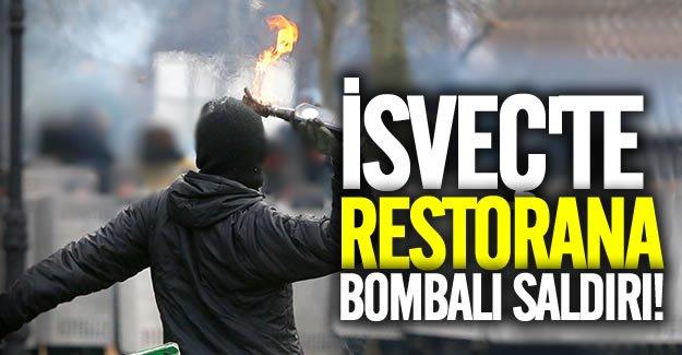 İsveç'te restorana bombalı saldırı!