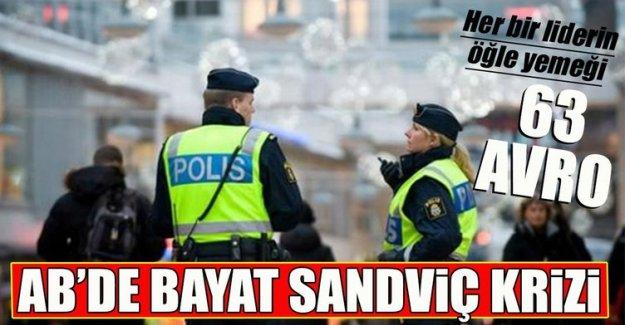 """İsveç'teki AB zirvesinde """"bayat sandviç"""" tartışması"""