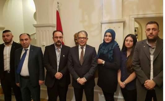 İsveç Ülkü Ocakları Büyükelçi Yunt'u Ziyaret Etti