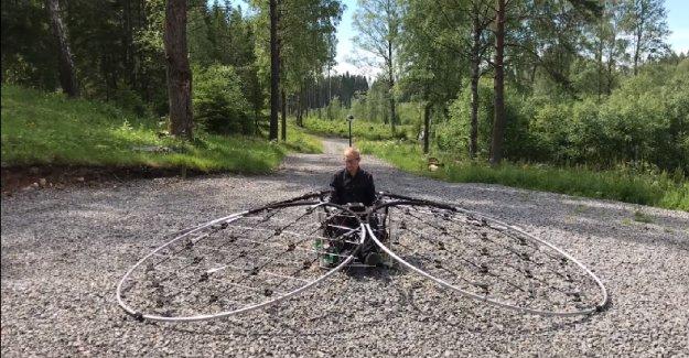 İsveçli Mühendisin Tasarladığı  Dev Drone!